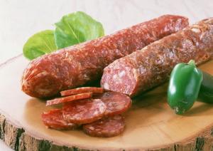 Salami de venado, salami de pavo y salami de bisonte